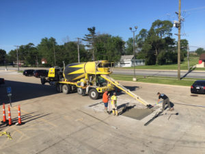 repairing concrete parking lot