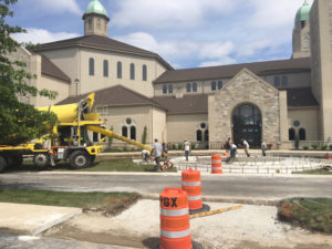 decorative concrete at a church